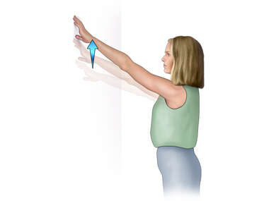 Rotator Cuff Exercise: Wall Climbing (Front)