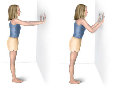 Scapular Exercise: Wall Push-ups