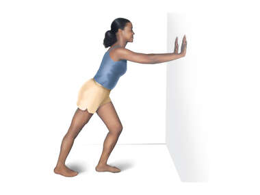 Calf Stretch: Leaning Against a Wall